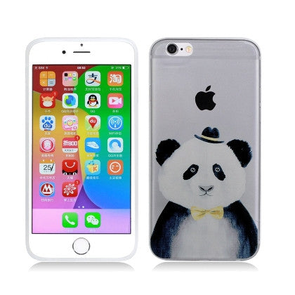 **PDA**For Apple iPhone 6/6S plus 5.5 inch Crystal TPU Cover, Hipster Panda