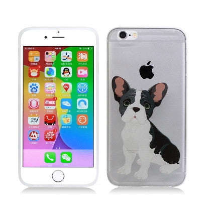 **PDA**For Apple iPhone 6/6S plus 5.5 inch Crystal TPU Cover, French Bulldog