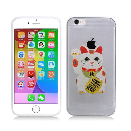**PDA**For Apple iPhone 6/6S plus 5.5 inch Crystal TPU Cover, Japanese Lucky Cat