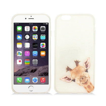 **PDA**For Apple iPhone 6/6S plus 5.5 inch Crystal TPU Cover, Giraffe With Horns