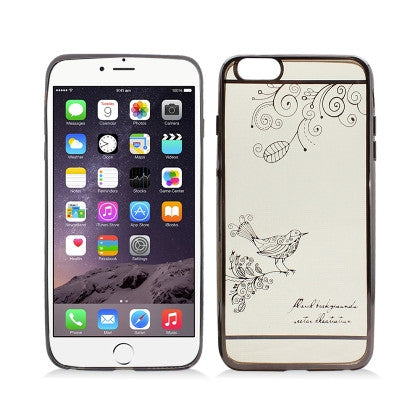 **PDA**For Apple  iPhone 6/6S plus (5.5 inch)Crystal Skin Shine Image Cover, Bird