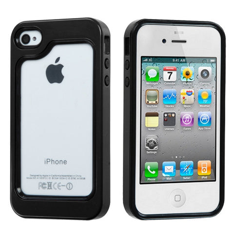 Black/Solid Black MyBumper Phone Protector Cover