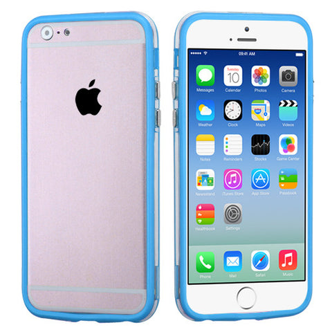 Baby Blue/Transparent Clear MyBumper Phone Protector Cover