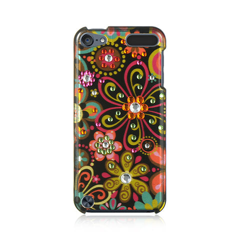 6 SPOT DIAMOND CASE BLACK MULTI FLOWER