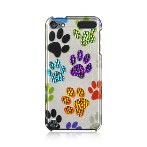6 SPOT DIAMOND CASE SILVER MULTI DOG PAWS