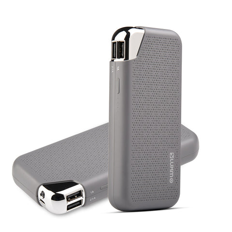 LUXMO UNIVERSAL 12000 MAH ULTRA BOOST SERIES DUAL USB POWER  BANK - GREY