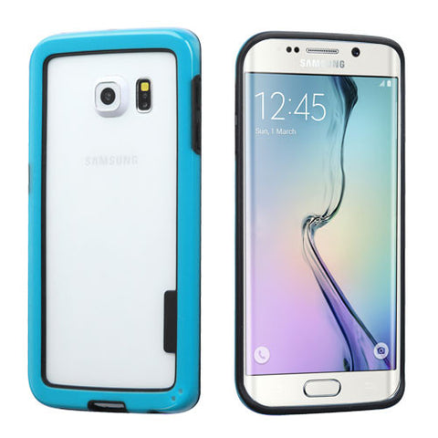 Black/Solid Blue MyBumper Phone Protector Cover