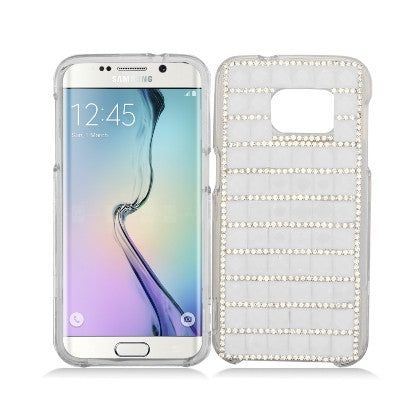 """Crystal"" For Samsung Galaxy S7 G930 (AT&T/Cricket/Sprint/T-Mobile/U.S. Cellular/Verizon Wireless/Boost Mobile/MetroPCS) Luxury 3D Diamond Cover, White"