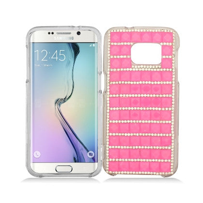 """Crystal"" For Samsung Galaxy S7 G930 (AT&T/Cricket/Sprint/T-Mobile/U.S. Cellular/Verizon Wireless/Boost Mobile/MetroPCS) Luxury 3D Diamond Cover, Hot Pink"