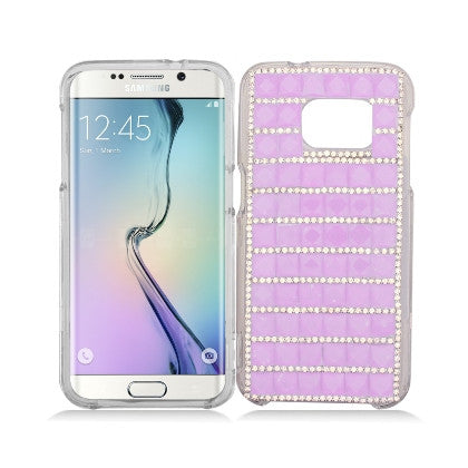 """Crystal"" For Samsung Galaxy S7 G930 (AT&T/Cricket/Sprint/T-Mobile/U.S. Cellular/Verizon Wireless/Boost Mobile/MetroPCS) Luxury 3D Diamond Cover, Light Purple"