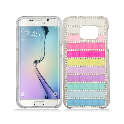 """Crystal"" For Samsung Galaxy S7 G930 (AT&T/Cricket/Sprint/T-Mobile/U.S. Cellular/Verizon Wireless/Boost Mobile/MetroPCS) Luxury 3D Diamond Cover, Rainbow"