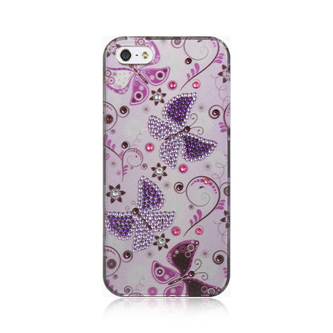 APPLE iPhone 5/5S SPOT DIAMOND CASE LADY BUTTERFLY