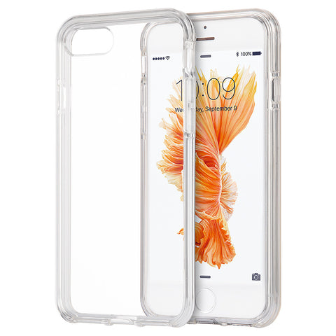 APPLE IPHONE 7 PLUS INVISIBLE BUMPER HYBIRD CASE ULTRA THIN  AGUA CLEAR + CLEAR INNER FRAME