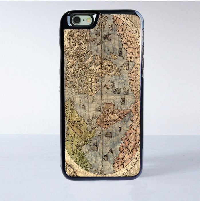 World Map Iphone 6s Case.Old Retro World Map Iphone 6s Case Casemighty