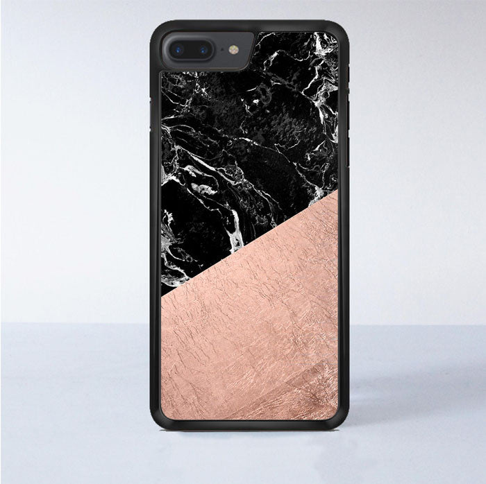 low priced 75ed5 e3e69 Rose Gold Black Marble iPhone 7 Plus Case