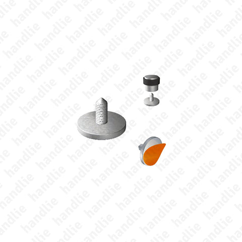 BP.IN.8140 - Base para batente limitador de porta - INOX
