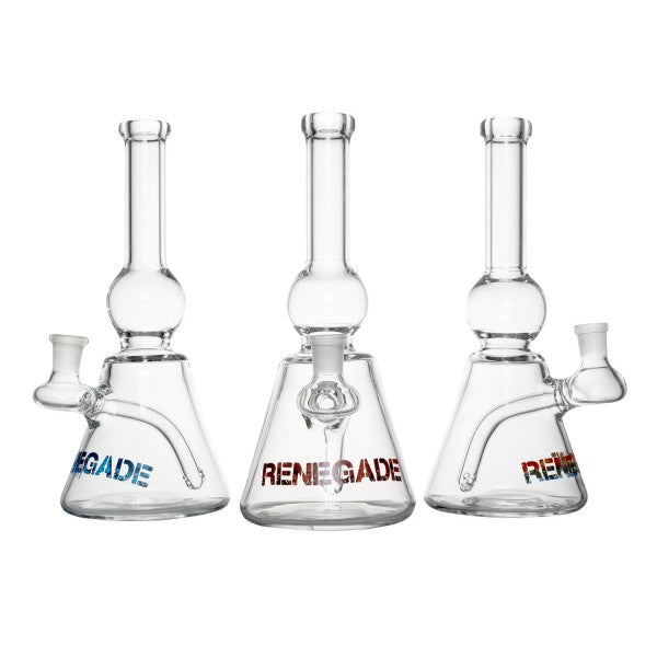 Renegade Ball Beaker - 3 ColorsDab Rig, Renegade Glass, Renegade Glass- Renegade Glass, American Made Glass, Buy American Glass Online