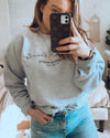 Jessica Hearts Chic Light Gray Pullover