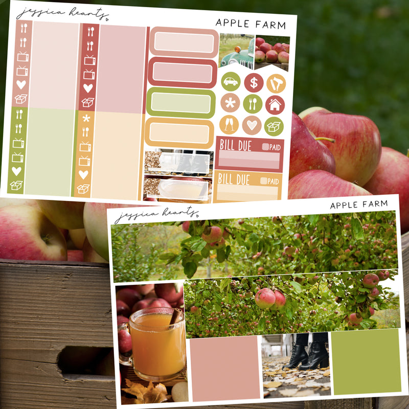 Apple Farm Weekly Sticker Kit