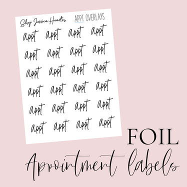 Foiled Appointment Overlay Stickers (Transparent)