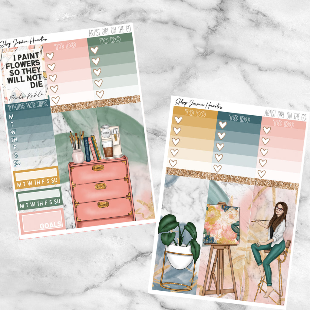 Artist (Girl On the Go Planner Sticker Kit),  - Jessica Hearts
