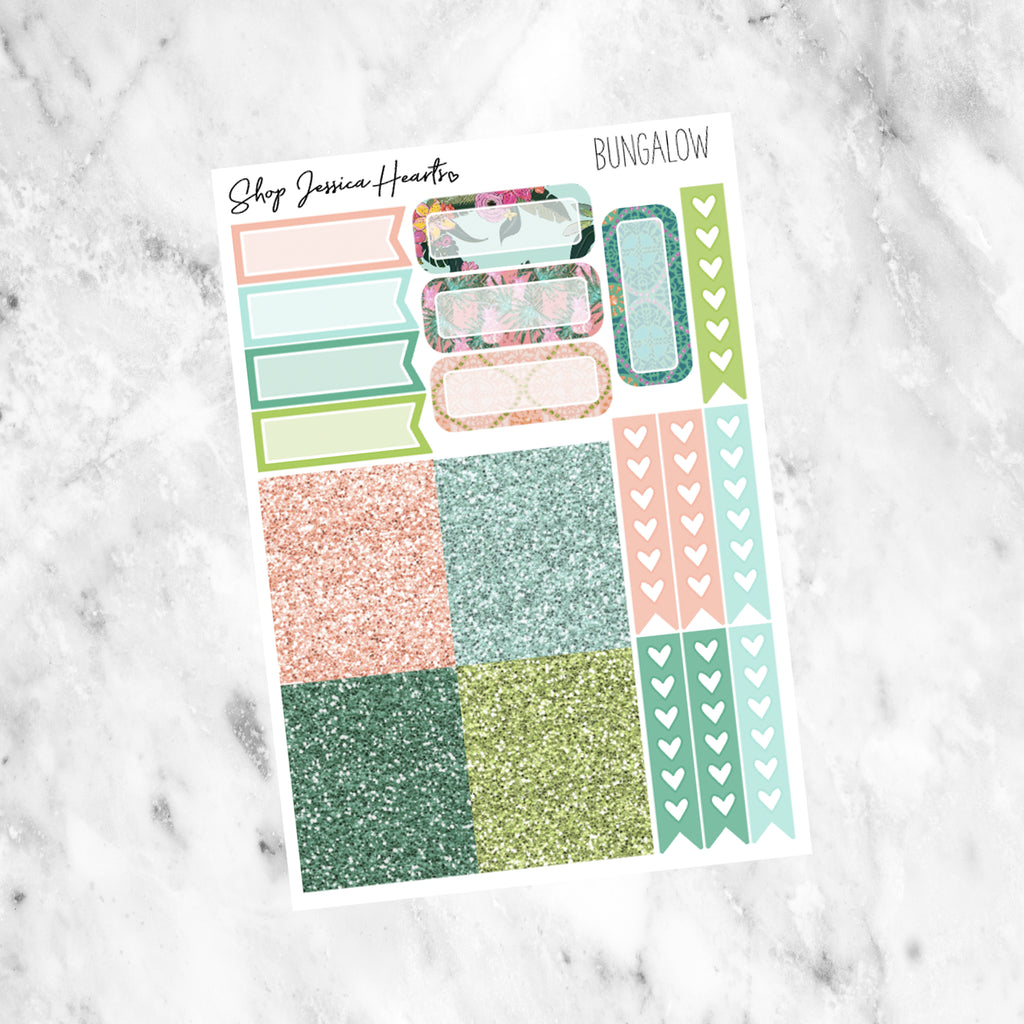 Bungalow Ultimate Sheet, planner stickers - Jessica Hearts