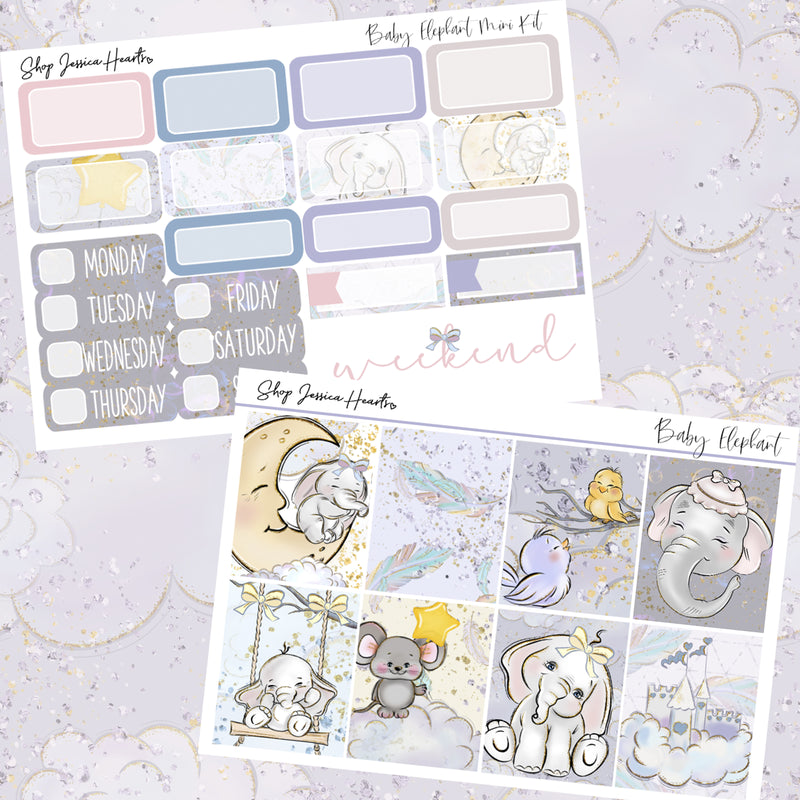 Baby Elephant MINI Sticker Kit