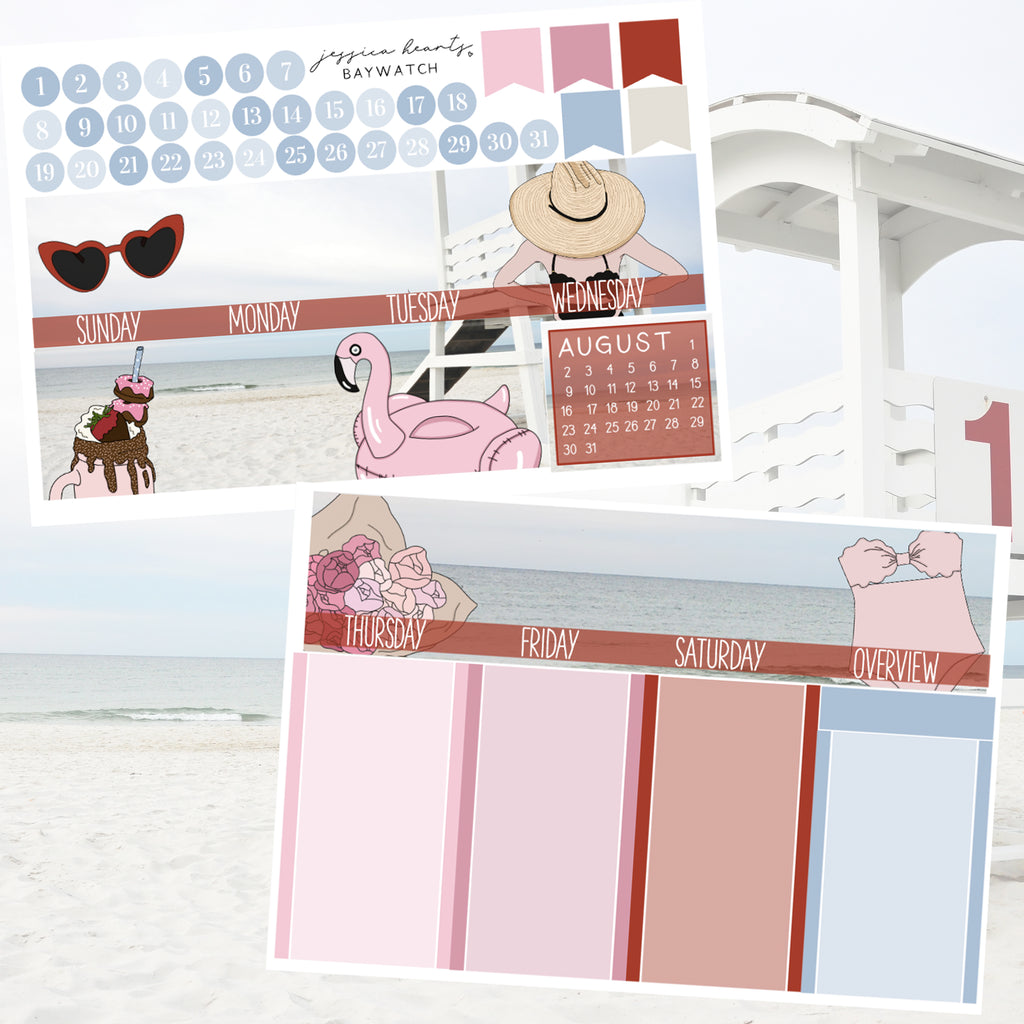 Baywatch BLANK July 2020 Monthly Kit + Foil Overlay