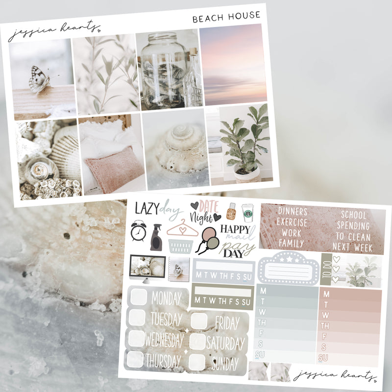 Beach House Weekly Sticker Kit
