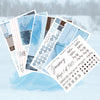 Frosted Winter BLANK December Monthly Kit + Foil Overlay