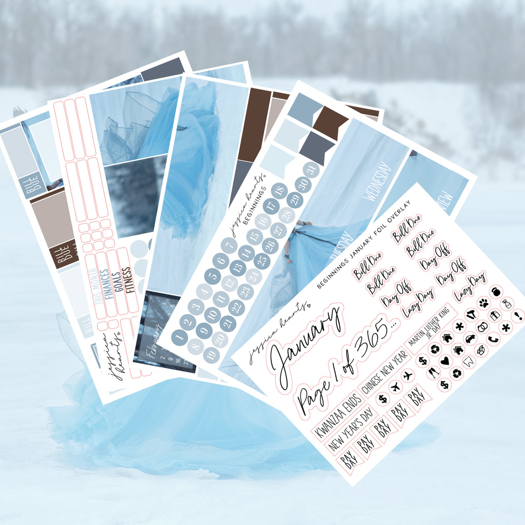 Beginnings BLANK January 2020 Monthly Kit + Foil Overlay
