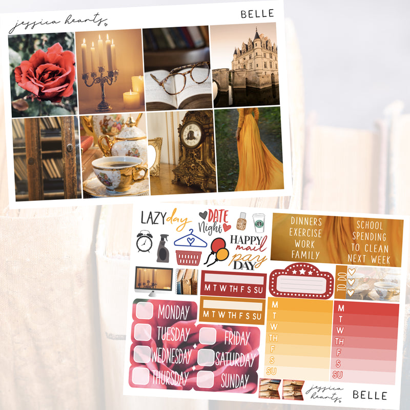 Belle Weekly Sticker Kit