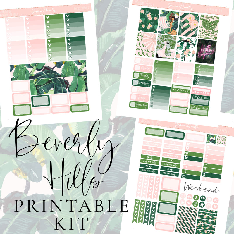 Beverly Hills Printable Sticker Kit (Download)
