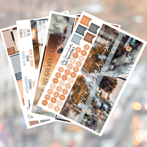 Big Apple Autumn November Monthly Kit,  - Jessica Hearts