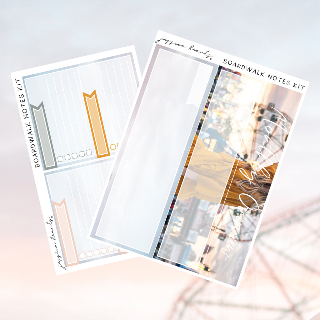 Boardwalk August 2019 Notes Page Kit