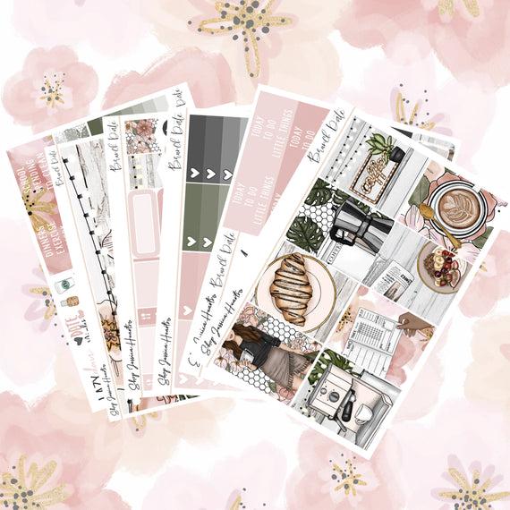 Brunch Date Weekly Sticker Kit