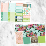 Bungalow Weekly Sticker Kit, planner stickers - Jessica Hearts