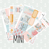 Cape Cod MINI Sticker Kit / Fits Erin Condren Vertical Life Planner,  - Jessica Hearts
