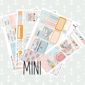 Cape Cod MINI Sticker Kit / Fits Erin Condren Vertical Life Planner