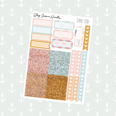 Cape Cod Ultimate Sheet, planner stickers - Jessica Hearts