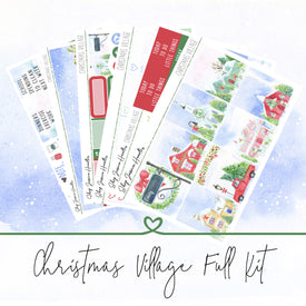 Christmas Village Weekly Sticker Kit,  - Jessica Hearts