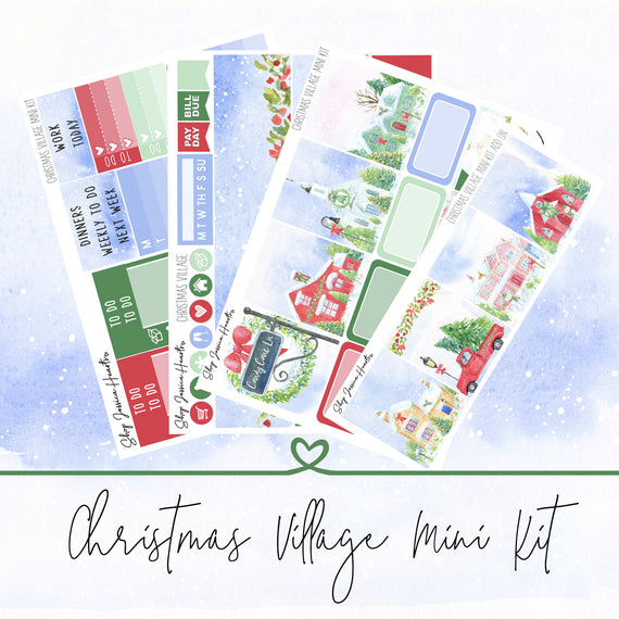 Christmas Village Mini Weekly Sticker Kit,  - Jessica Hearts
