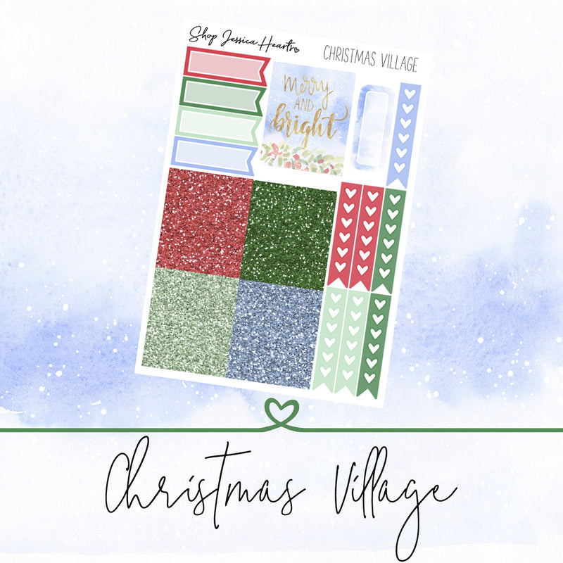 Christmas Village Ultimate Sheet, planner stickers - Jessica Hearts