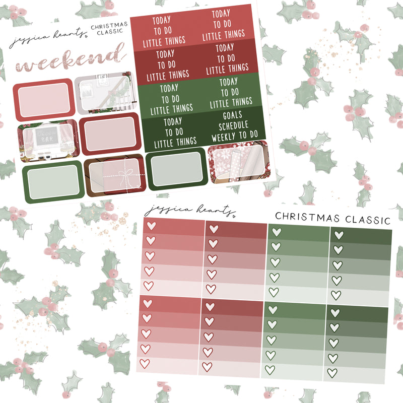 Christmas Classic Weekly Sticker Kit