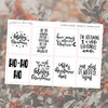 New Year's Eve Foil Overlay Sticker Sheet (Transparent)