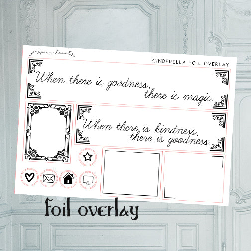 Cinderella Foil Overlay Sticker Sheet (Transparent)