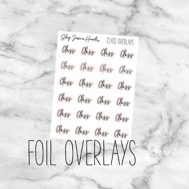 Foiled Class Overlay Stickers (Transparent),  - Jessica Hearts