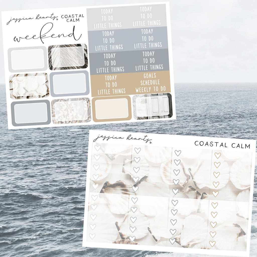 Coastal Calm Weekly Sticker Kit