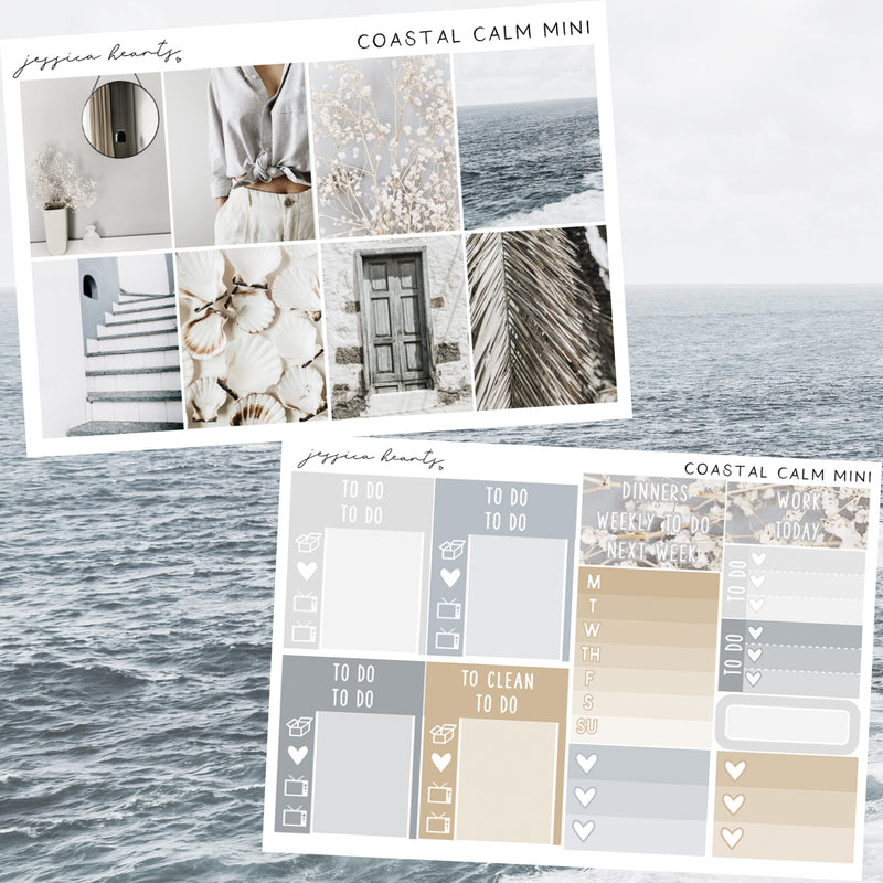 Coastal Calm MINI Sticker Kit