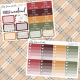 Country Chic Weekly Sticker Kit